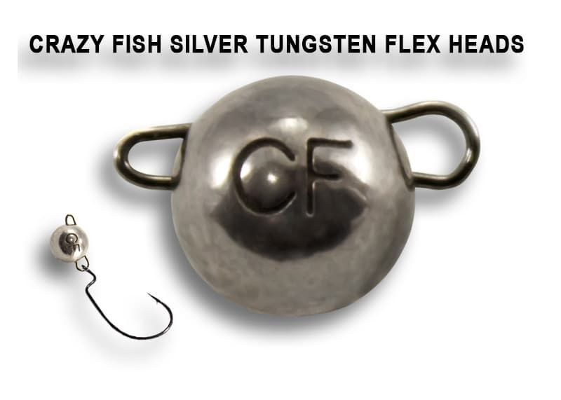 Купить Вольфрамовая чебурашка Crazy Fish 3г цвет серебро недорого