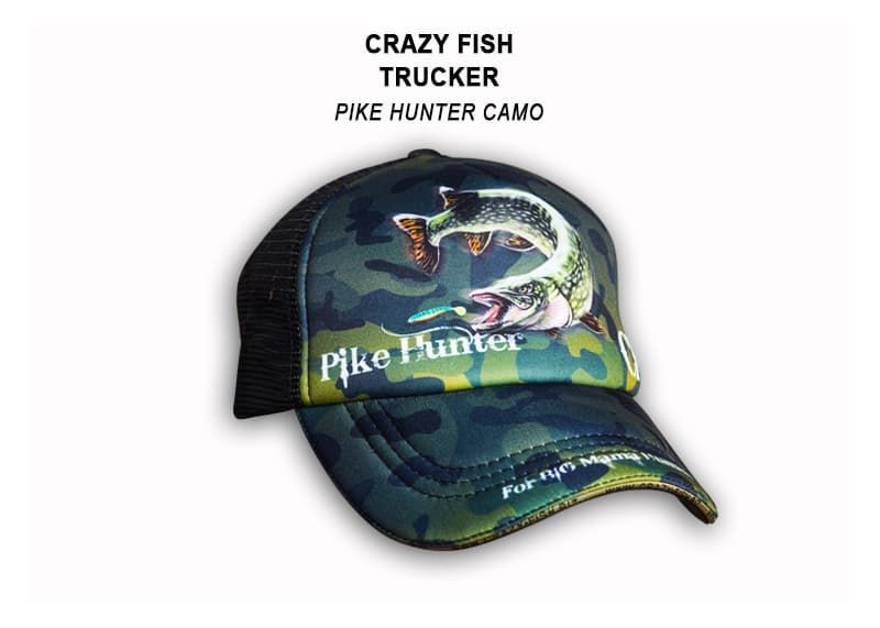 Кепка тракер CRAZY FISH PIKE HUNTER для рыбака и рыбалки