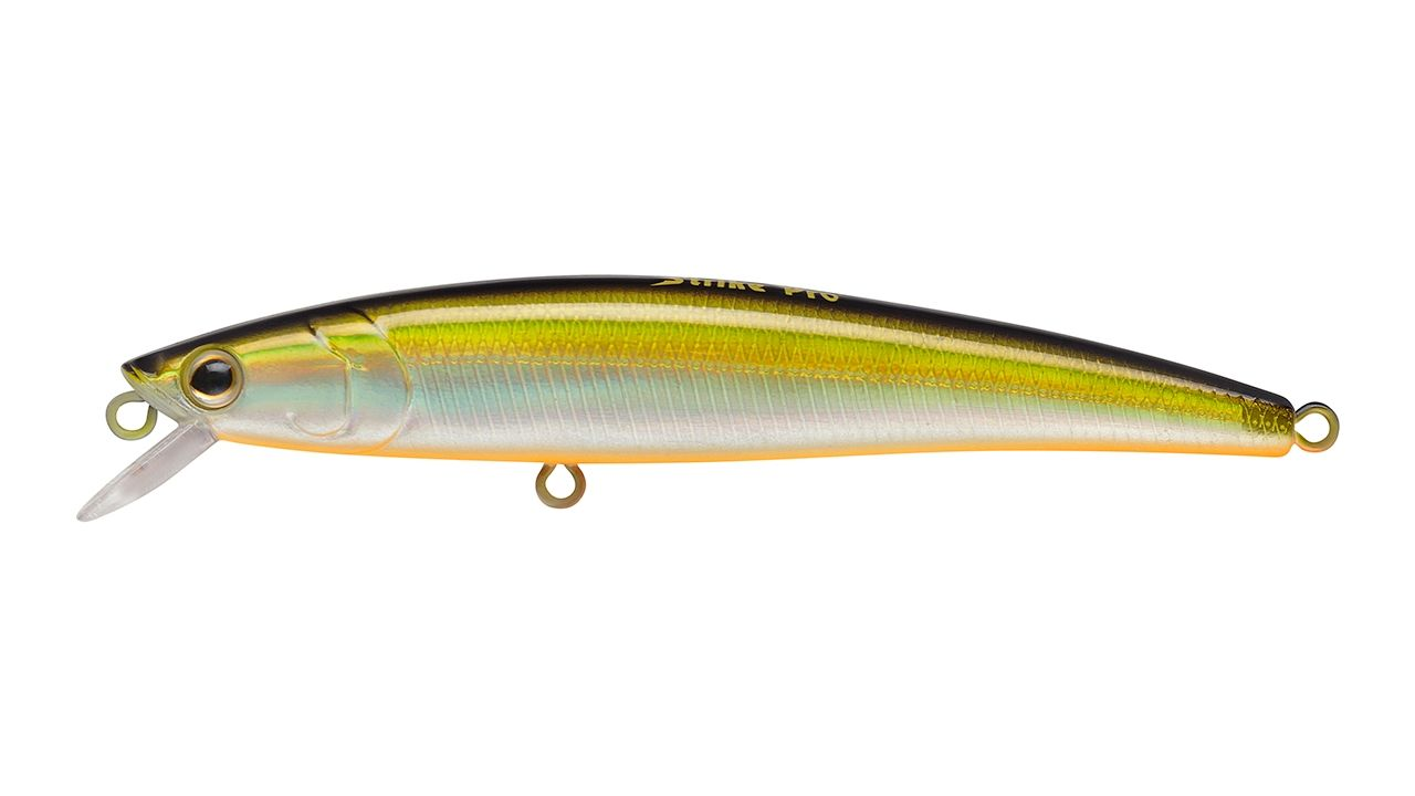Воблер Strike Pro Arc Minnow 75SP цвет 612T Natural Shad Silver