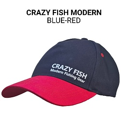 Кепка Crazy Fish Modern blue-red M для рыбака и рыбалки