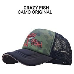 Кепка Crazy Fish Camo Original L для рыбака и рыбалки